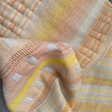 Woven textiles, sustainable textiles, natural dyes, hand woven
